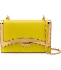 emilio pucci lime shoulder bag - yellow