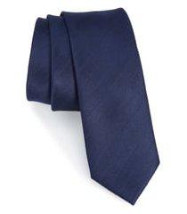 men's the tie bar herringbone vow silk tie, size regular - blue