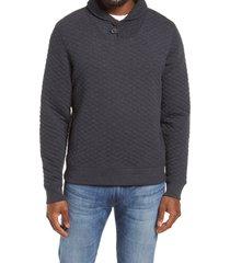 men's billy reid shawl collar pullover, size medium - blue