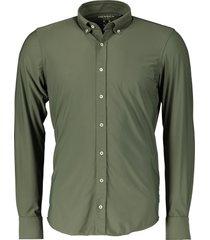 hensen overhemd - body fit - groen