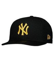 boné new era mlb new york yankees 950 preto e dourado