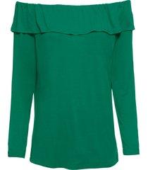 maglia con spalle scoperte e maniche a 3/4 (verde) - bodyflirt