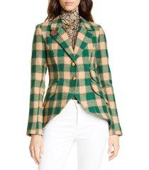 women's smythe plaid wool hunting jacket