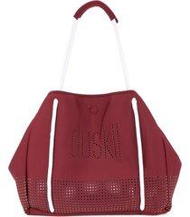 duskii loose wide tote bag - red