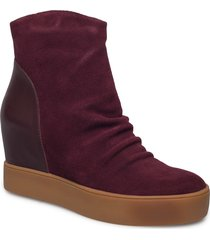 trish s shoes boots ankle boots ankle boot - heel lila shoe the bear