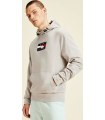 tommy hilfiger men's one planet recycled hoodie sand trap - xxl