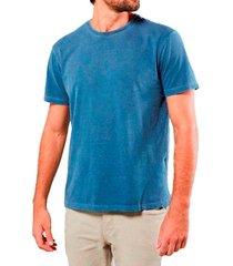 camiseta masculina algodão sandro clothing willy azul estonada