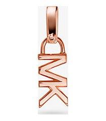 mk ciondolo con logo in argento sterling con placcatura in metallo prezioso - oro rosa (oro rosa) - michael kors