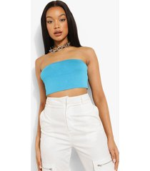 basic jersey bandeau top, blue