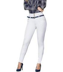 jeans colombiano control de abdomen blanco bartolomeo