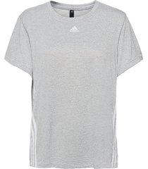 3-stripes t-shirt w t-shirts & tops short-sleeved grå adidas performance