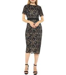 alexia admor women's delora lace sheath dress - red - size 6