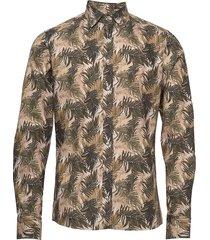 8560 - iver soft overhemd casual bruin sand