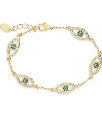 sterling forever women's evil eye crystal bracelet