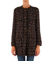 dolce & gabbana tweed coat with horn buttons