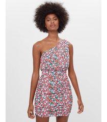 asymmetrische jurk met print