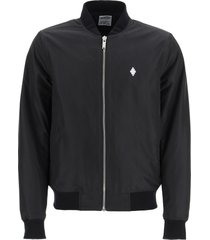 marcelo burlon nylon bomber jacket fire cross