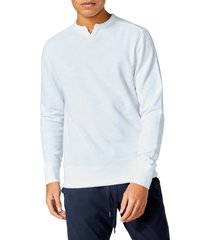 men's good man brand victory slim fit v-notch sweatshirt, size small - white