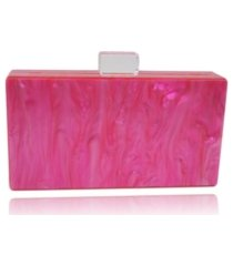 milanblocks mother of pearl box clutch