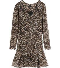 vestido leopard café banana republic