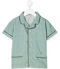 caramel holborn checked shirt - green