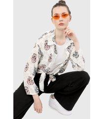 camisa blanco-vinotinto-negro paris district