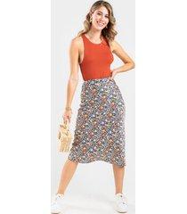 gabbie midi floral skirt - multi
