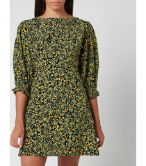 faithfull the brand women's fontane mini dress - yasmin floral - l