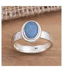 opal cocktail ring, 'oval pool' (indonesia)