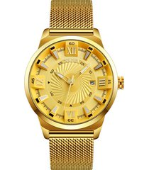 business quartz gold watches no number orologio da polso in acciaio inossidabile cinturino per uomo