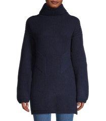 thakoon women's chunky geelong lambswool turtleneck sweater - charcoal - size xs