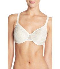 women's chantelle lingerie c magnifique seamless unlined minimizer bra, size 42f (ddd us) - white