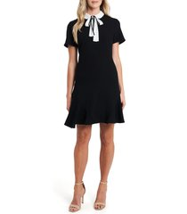women's cece bow neck crepe dress