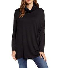 women's caslon high/low tunic, size x-small - black