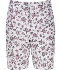 bermuda mujer flores rosa color rosado, talla 12