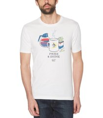 original penguin men's fries & shine logo graphic t-shirt