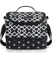 bolsa térmica com 2 compartimentos jacki design bella vitta preto
