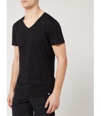orlebar brown men's v-neck t-shirt - black - l