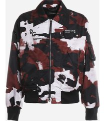 dolce & gabbana nylon camouflage print jacket