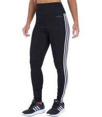 calça legging adidas d2m hr 3s - feminina - preto/branco