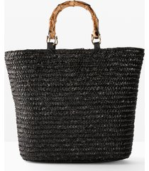 borsa shopper di paglia (nero) - bpc bonprix collection