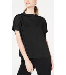 alfani mock-neck short-sleeve top, created for macy's