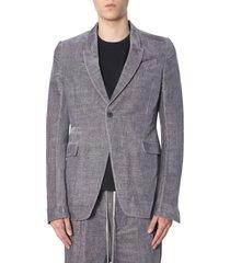 rick owens single-breasted jacket