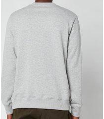 ps paul smith men's embroidered zebra logo sweatshirt - melange - l