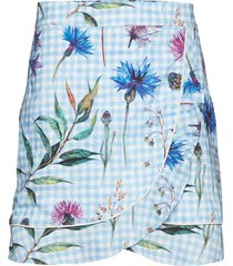 deena skirt kort kjol blå by malina