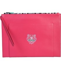 "kenzo designer men's bags, ""tiny tiger"" pouch"