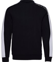 armani exchange felpa sweat-shirt trui zwart armani exchange