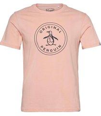s/s printed stamp lo t-shirts short-sleeved rosa original penguin