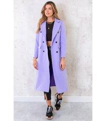 ultra long coat lila