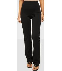 nly one straight crepe pant byxor svart